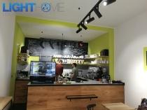 Osvětlení prodejny a pražírny kávy Praha